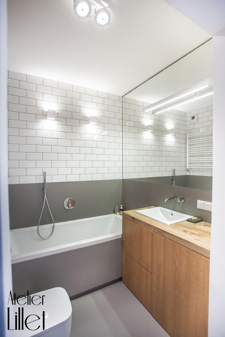 Pracownia projektowa Atelier Lillet Modern bathroom Grey
