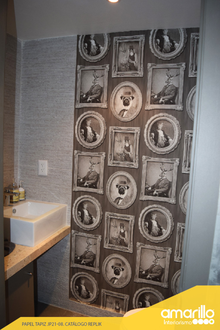 Amarillo Interiorismo Walls & flooringWall tattoos Grey