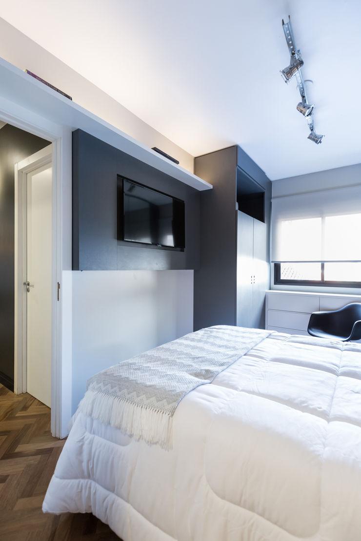 Apartamento Soho K+S arquitetos associados Quartos industriais