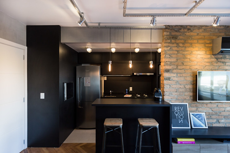 Apartamento Soho K+S arquitetos associados Cozinhas industriais