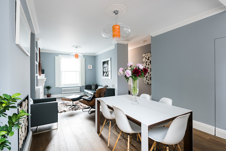 Oliphant Street, Queen's Park Grand Design London Ltd Rustic style dining room