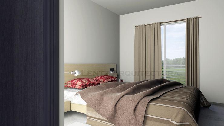 Lentz Arquitectura Diseño y Construcción Phòng ngủ phong cách hiện đại Bê tông cốt thép