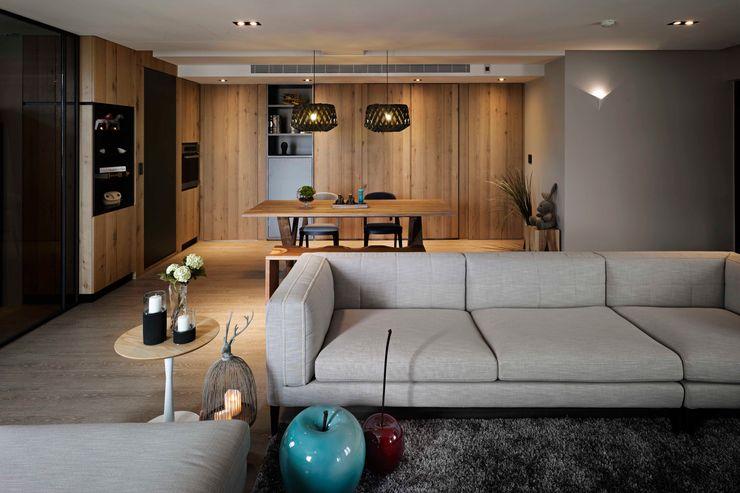 家的溫度 豁然 晨室空間設計有限公司 现代客厅設計點子、靈感 & 圖片