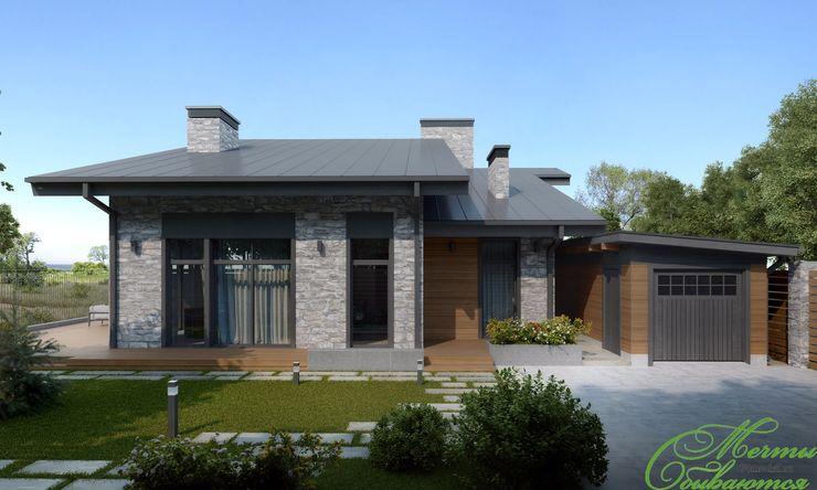 Компания архитекторов Латышевых 'Мечты сбываются' Minimalistische Häuser