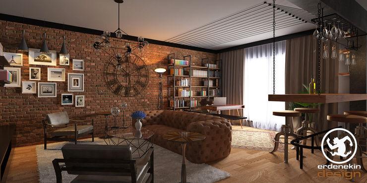 Salon Bölümü Erden Ekin Design Endüstriyel Oturma Odası
