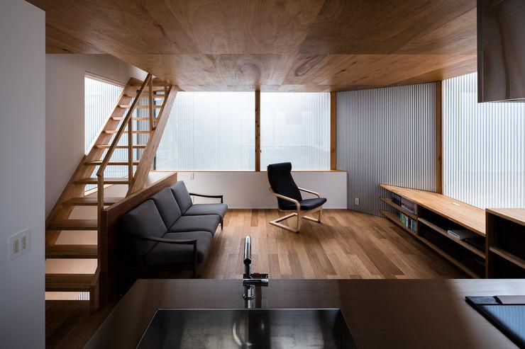 4つの光の庭 建築設計事務所SAI工房 リビングルームカップボード&サイドボード