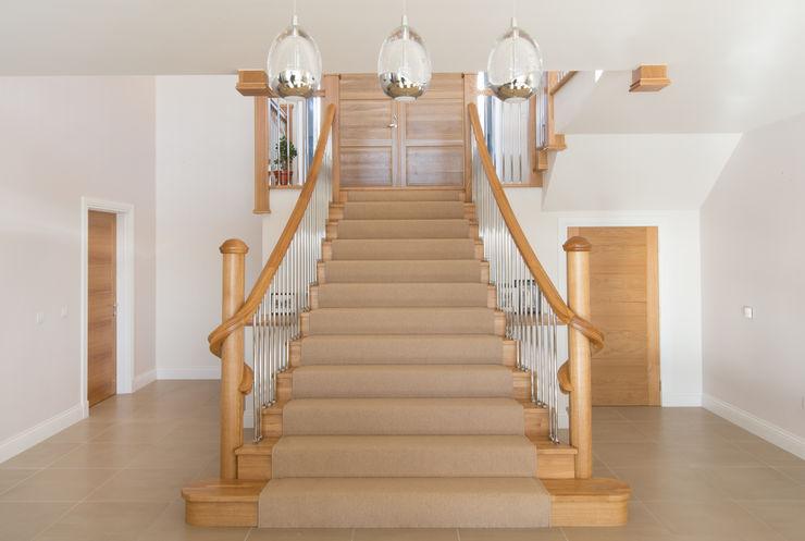 Coldwells, Alford, Aberdeenshire Roundhouse Architecture Ltd Modern corridor, hallway & stairs