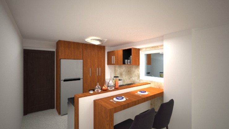 Vanguardia Arquitectónica KitchenStorage Engineered Wood Wood effect