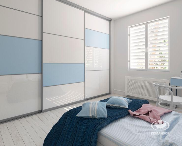Komandor - Wnętrza z charakterem Спальня Скло Синій