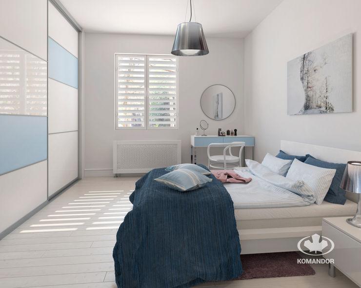 Komandor - Wnętrza z charakterem Спальня ДСП Білий