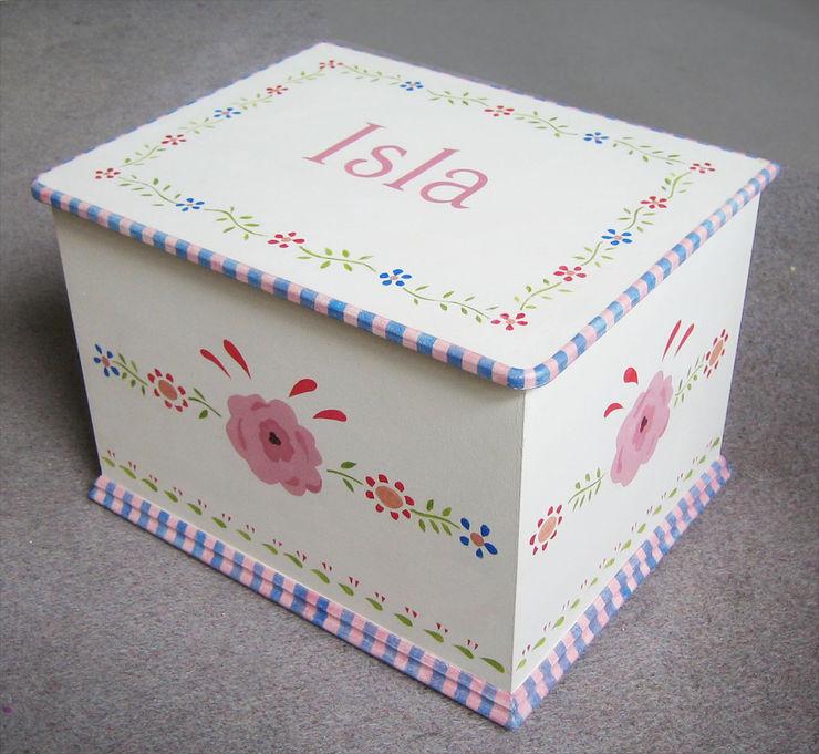 Gypsy Toy Keepsake Box Anne Taylor Designs Nursery/kid's roomStorage خشب Pink