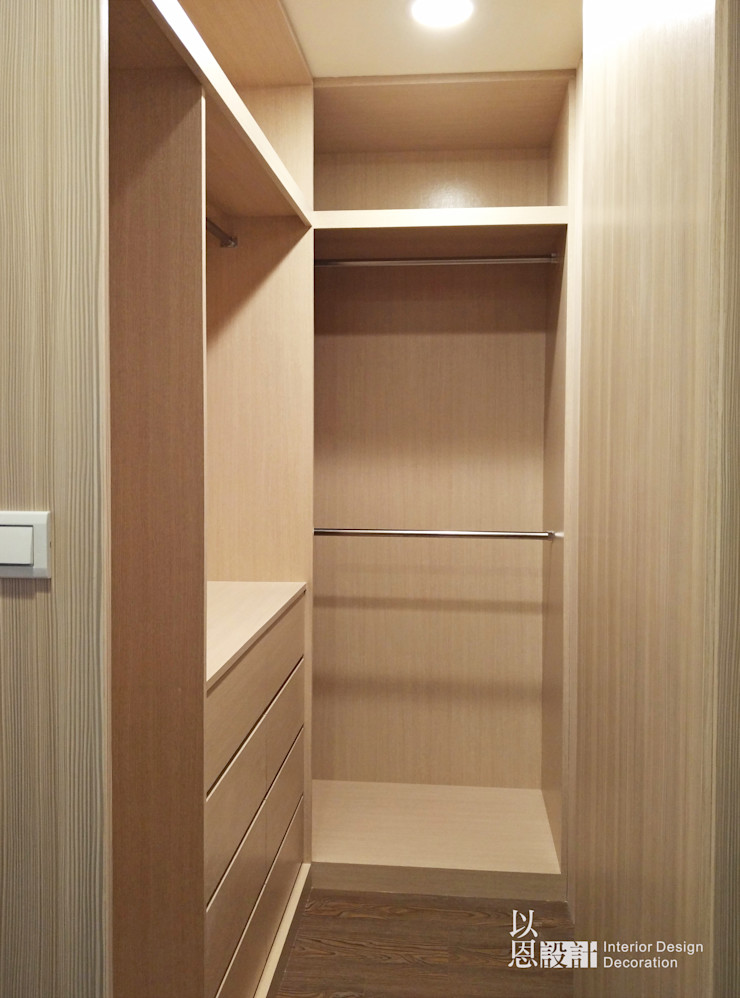 主臥更衣室 以恩室內裝修設計工程有限公司 更衣室