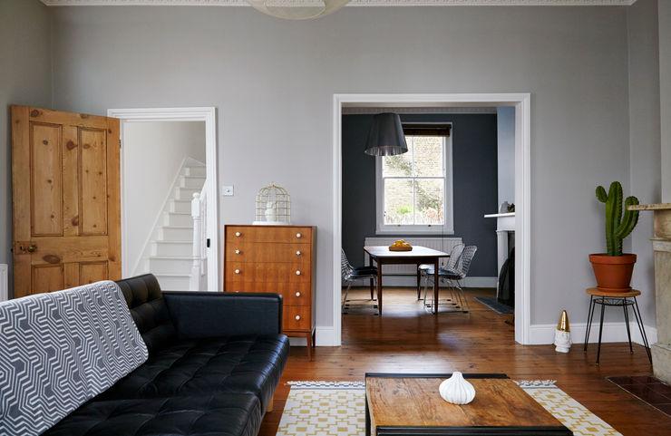Stoke Newington House of Sylphina Scandinavian style living room