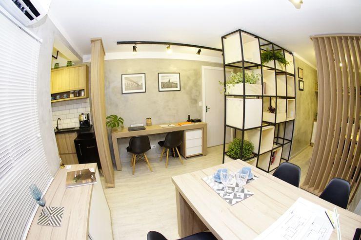 Escritório Jorge Machado arquitetura Jorge Machado Arquitetos Escritórios industriais Concreto Cinza