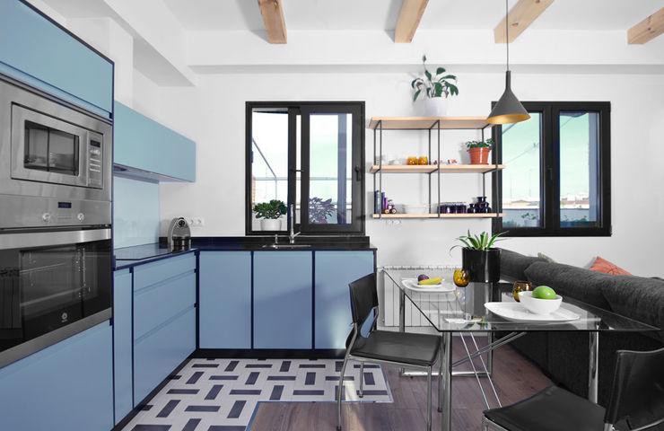 Ondo Interiorismo Cocinas modernas Azul