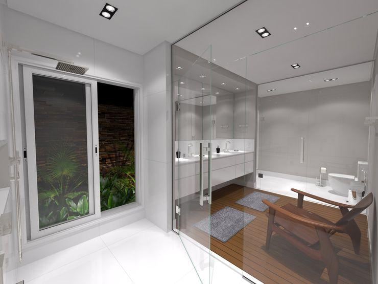 Jeffer Henrich Minimalist style bathroom Ceramic White