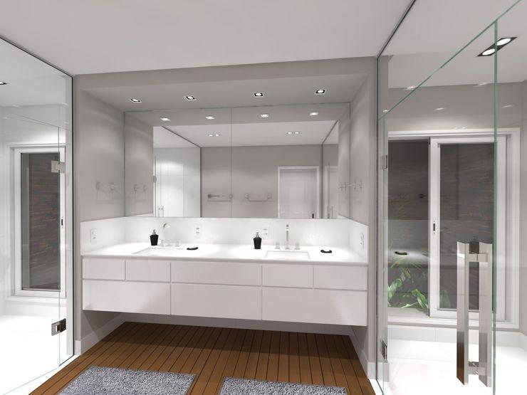Jeffer Henrich Minimalist style bathroom Solid Wood White
