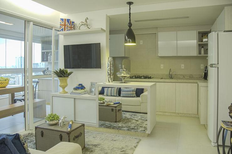 Carolina Fontes Arquitetura Cocinas modernas: Ideas, imágenes y decoración Blanco
