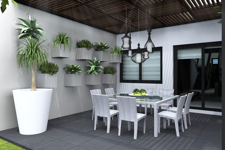 TERRAZA DIA homify Balcones y terrazas modernos Metal Blanco