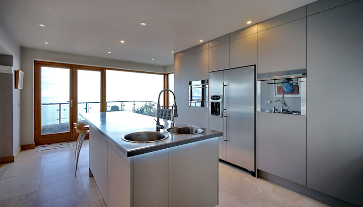 Sea Views are still the main focus ADORNAS KITCHENS Modern kitchen Wood Brown