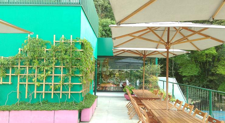 RESTAURANTE AZE FOODS   Faculdade de Medicina USP Lá Fora   arquitetura da paisagem Espaços gastronômicos modernos
