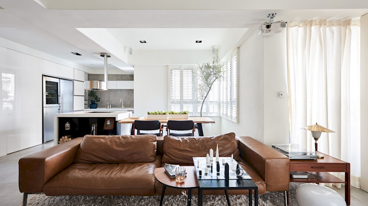理絲室內設計有限公司 Ris Interior Design Co., Ltd. 미니멀리스트 거실 화이트