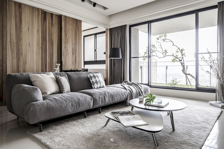 理絲室內設計有限公司 Ris Interior Design Co., Ltd. Salones escandinavos Acabado en madera