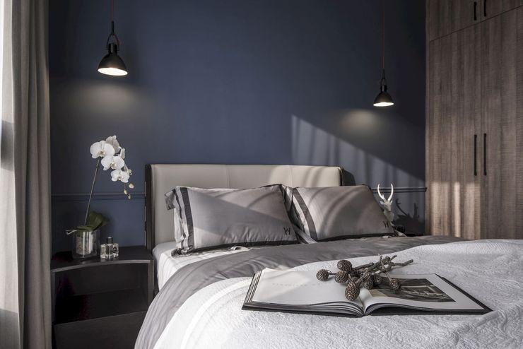 森.光景|Wood-Scape 理絲室內設計有限公司 Ris Interior Design Co., Ltd. 臥室 Grey