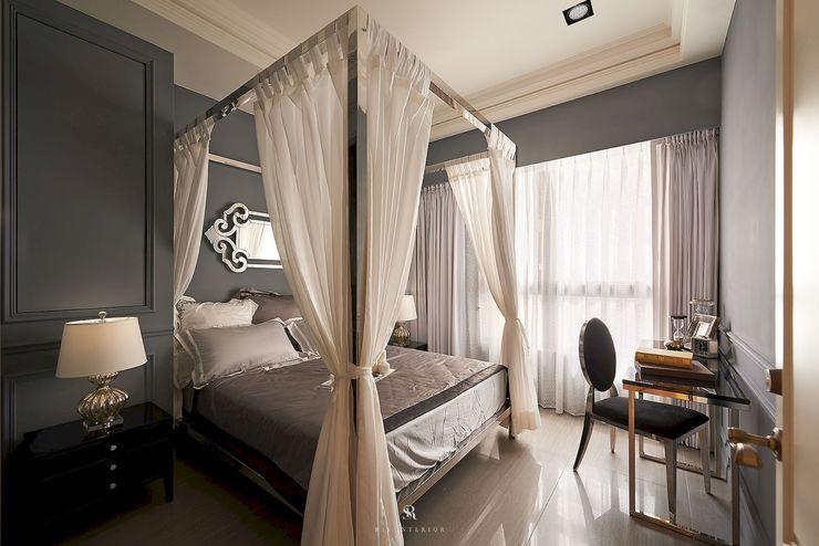 理絲室內設計有限公司 Ris Interior Design Co., Ltd. غرفة نوم Metallic/Silver