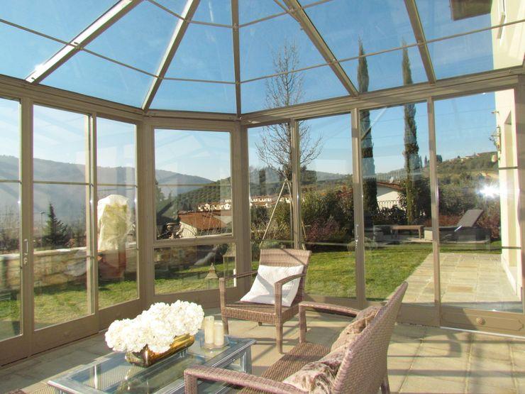 serra solare Studio Tecnico Progettisti Associati Ing. Marani Marco & Arch. Dei Claudia Case moderne Vetro Trasparente