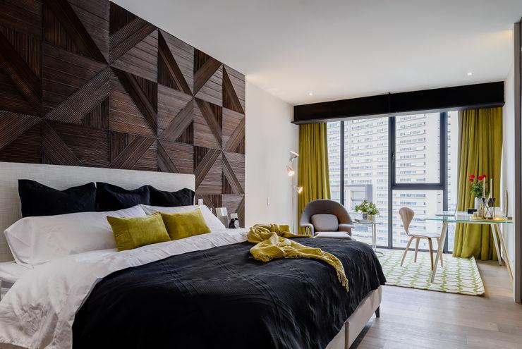 NIVEL TRES ARQUITECTURA Dormitorios modernos: Ideas, imágenes y decoración Madera Negro
