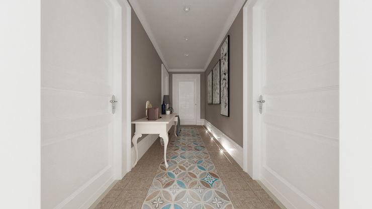 De Vivo Home Design Mediterraner Flur, Diele & Treppenhaus