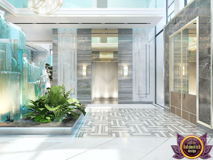 Luxury Antonovich Design Modern corridor, hallway & stairs