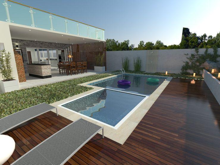 Samuel Alves Arquitetura Tropical style pool