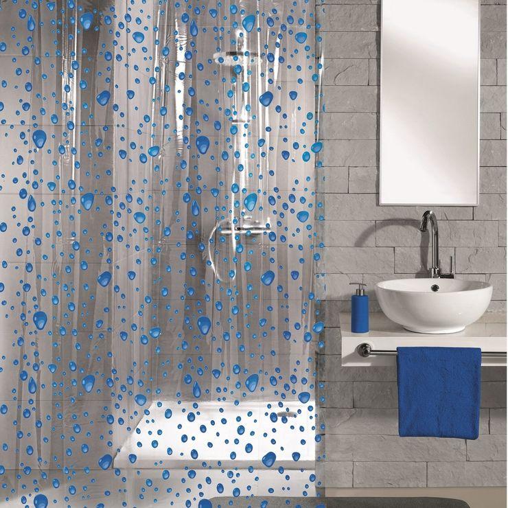 Bubble Navy Blue Shower Curtain King of Cotton BathroomTextiles & accessories Blue