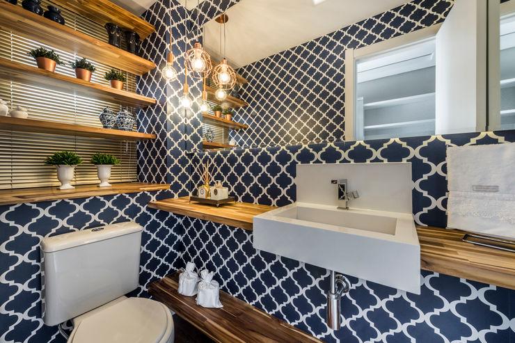Treez Arquitetura+Engenharia Baños de estilo moderno Madera Azul