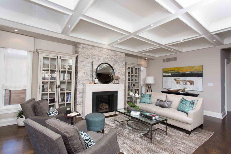 Frahm Interiors Living room Wood