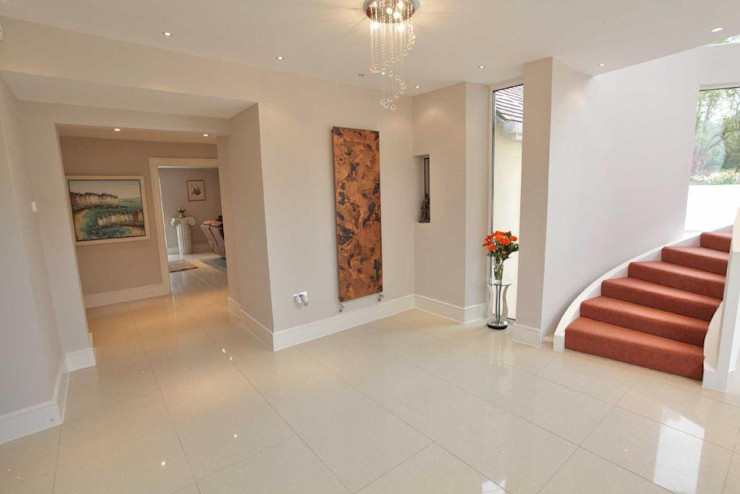 Draethen Farm House Conversion Smarta Koridor & Tangga Modern