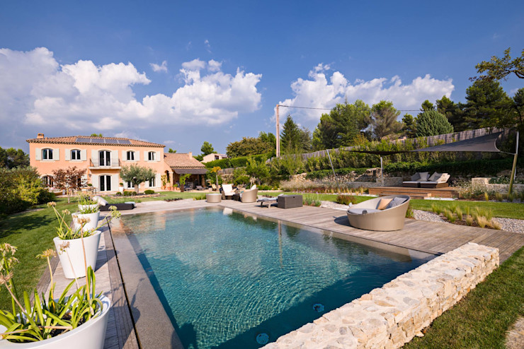 TRETS - jardin contemporain en Provence Agence MORVANT & MOINGEON Jardin moderne