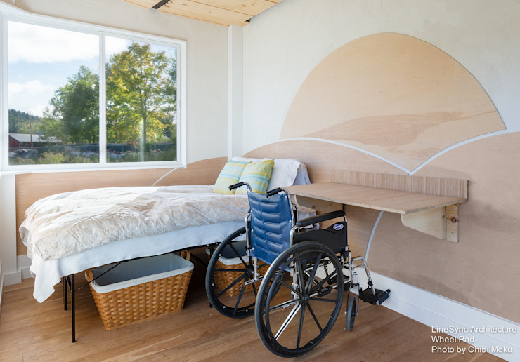 Chibi Moku Architectural Films モダンスタイルの寝室 エンジニアリングウッド ブラウン