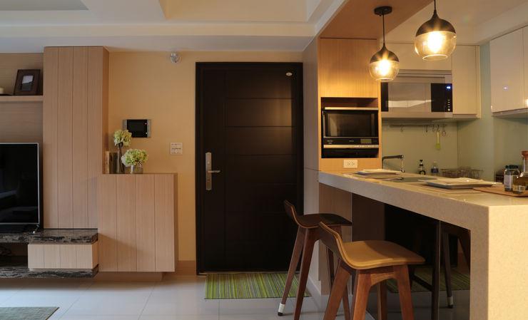玄關 漢品室內設計 現代風玄關、走廊與階梯