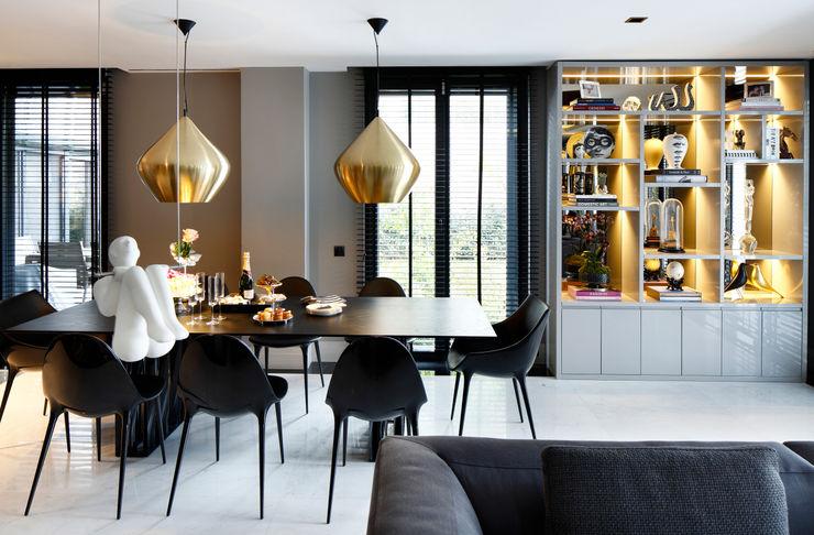 LIVING ROOM Esra Kazmirci Mimarlik Modern dining room Grey