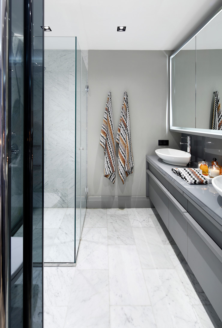 bathroom Esra Kazmirci Mimarlik Modern bathroom Grey