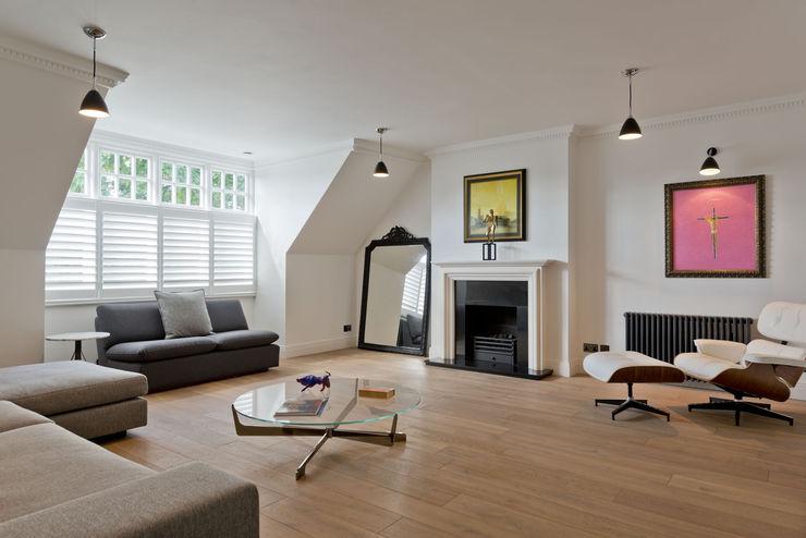 Hampstead Penthouse DDWH Architects Minimalist living room