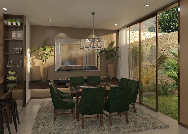 Taller Interno Tropical style dining room