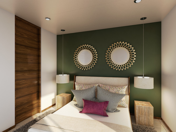 Taller Interno Tropical style bedroom
