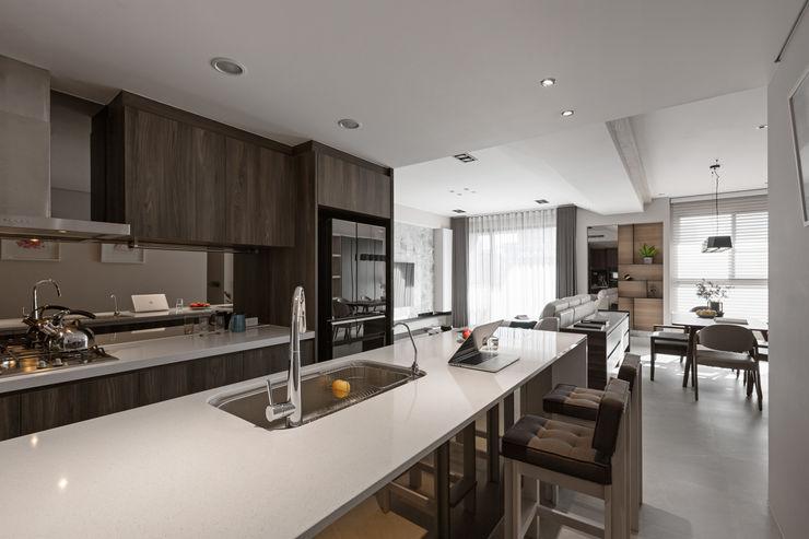 賀澤室內設計 HOZO_interior_design 賀澤室內設計 HOZO_interior_design Eclectic style kitchen