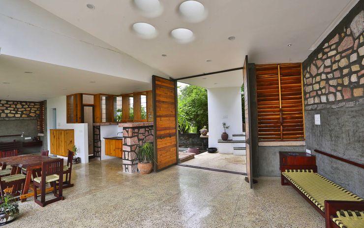 prarthit shah architects 现代客厅設計點子、靈感 & 圖片