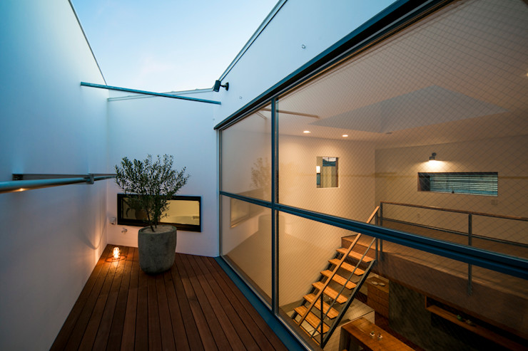 group-scoop Balcones y terrazas escandinavas Madera maciza Blanco