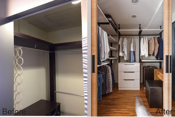 賀澤室內設計 HOZO_interior_design homify Eclectic style dressing room